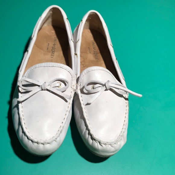 87a35a4a91b Cynthia Rowley Shoes - Cynthia Rowley Off White Leather Loafer Flats 8.5